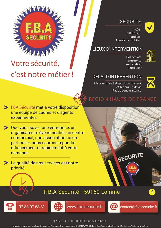 Flyer F.B.A Sécurité